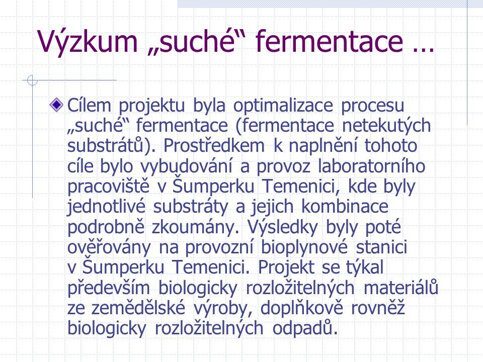 "Výzkum ""suché fermentace …"