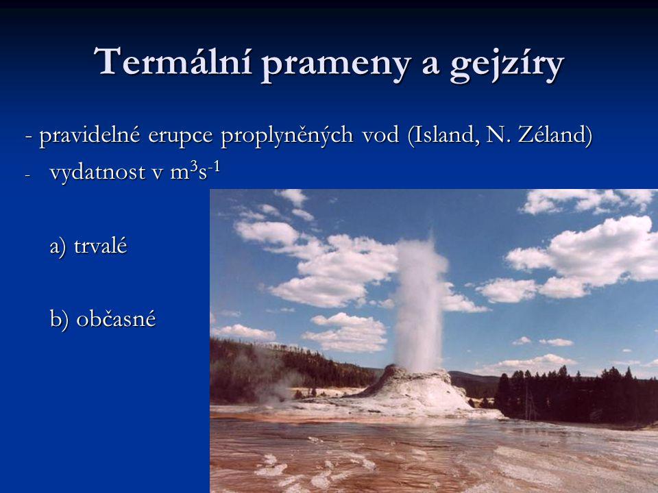 Termální prameny a gejzíry