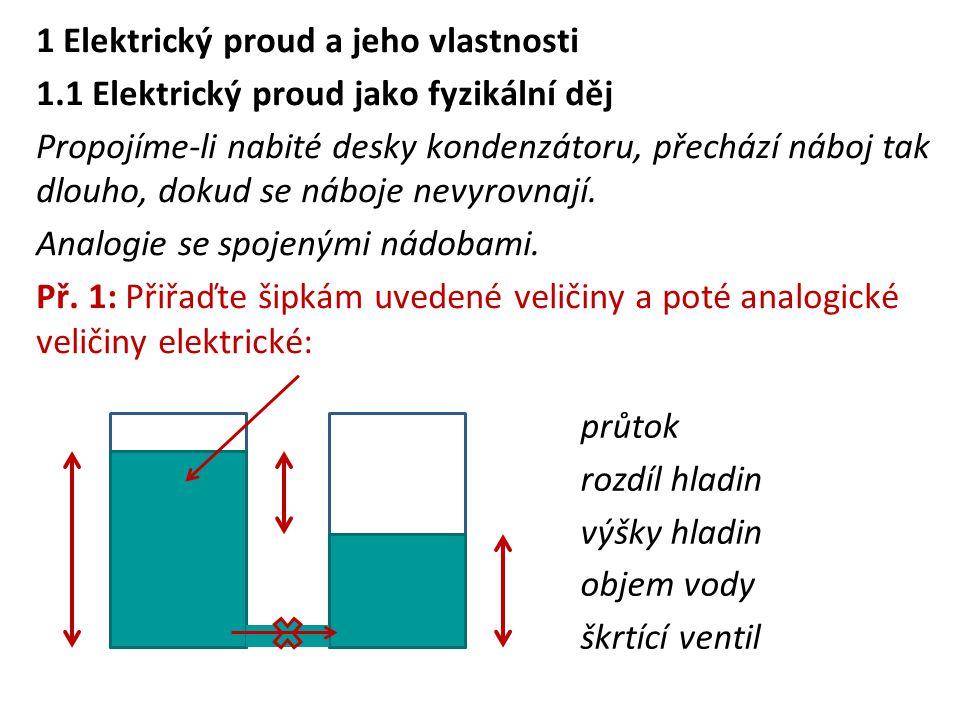1 Elektrický proud a jeho vlastnosti