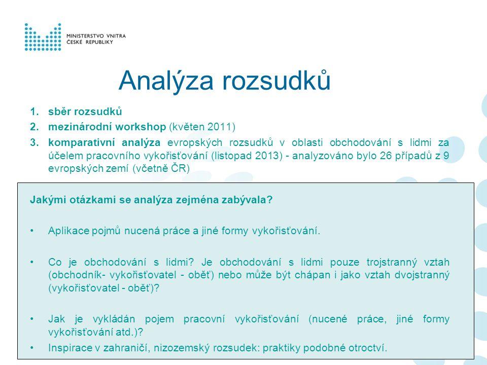 Analýza rozsudků sběr rozsudků mezinárodní workshop (květen 2011)