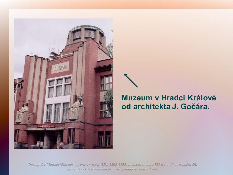Muzeum v Hradci Králové od architekta J. Gočára.