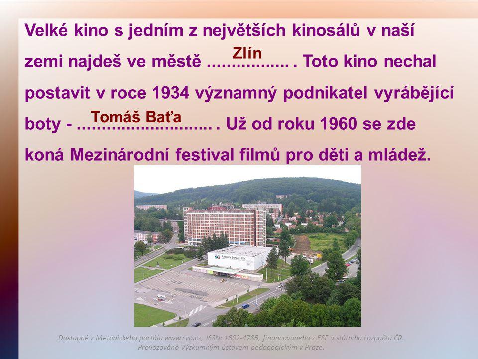 Velké kino s jedním z největších kinosálů v naší zemi najdeš ve městě