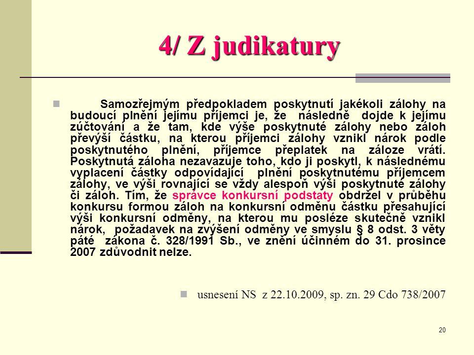 4/ Z judikatury