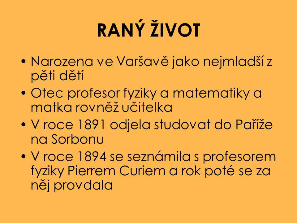 RANÝ ŽIVOT Narozena ve Varšavě jako nejmladší z pěti dětí