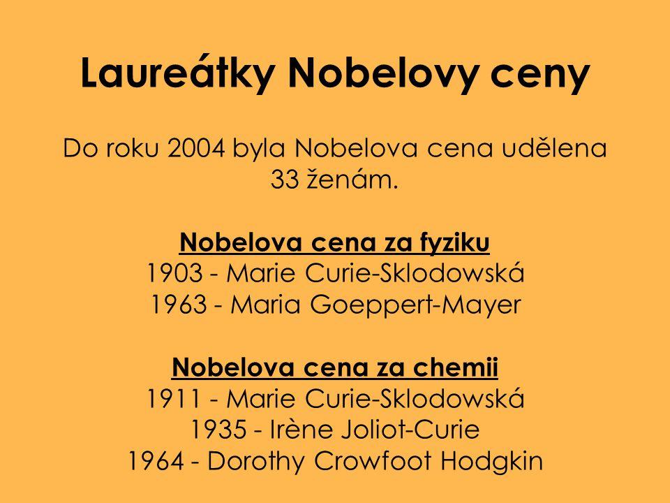 Laureátky Nobelovy ceny