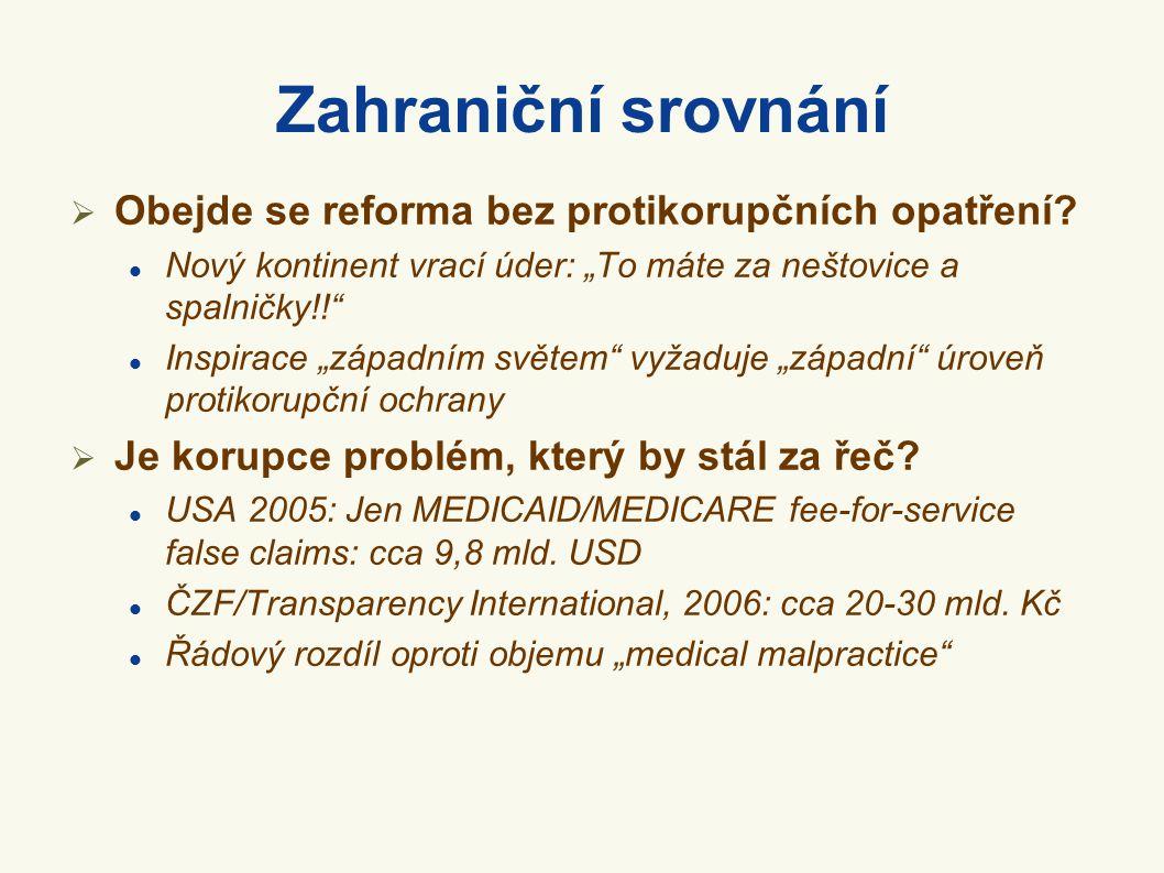 Zahraniční srovnání Obejde se reforma bez protikorupčních opatření