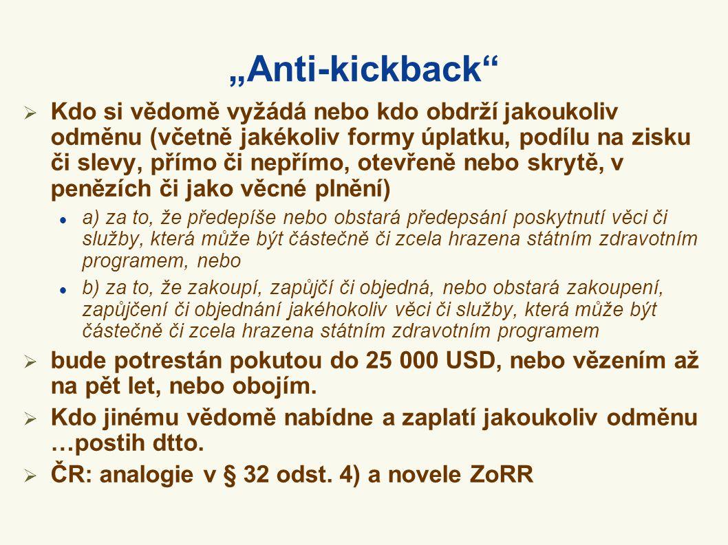 """""""Anti-kickback"""