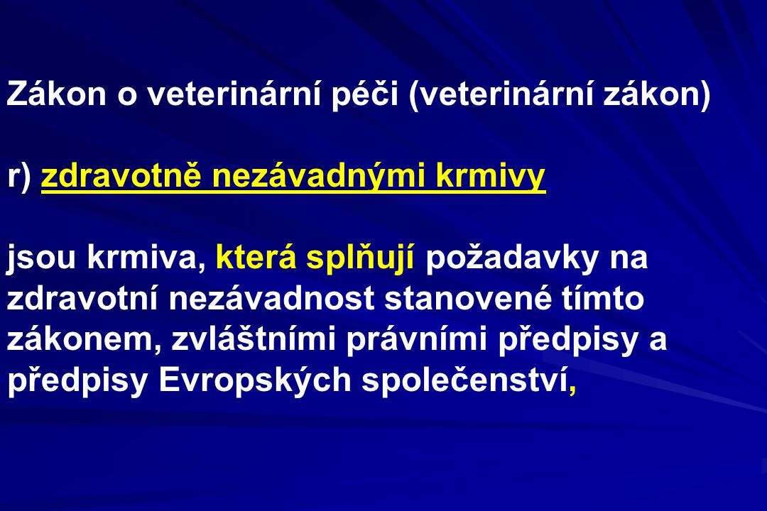 Zákon o veterinární péči (veterinární zákon)