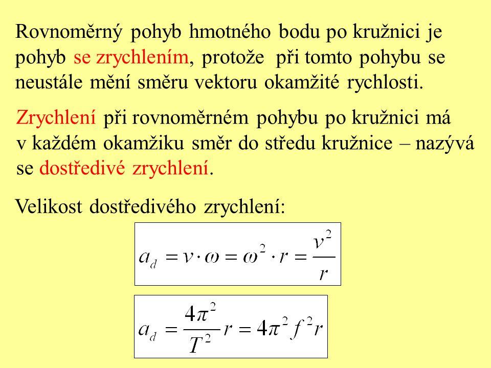 Rovnoměrný pohyb hmotného bodu po kružnici je