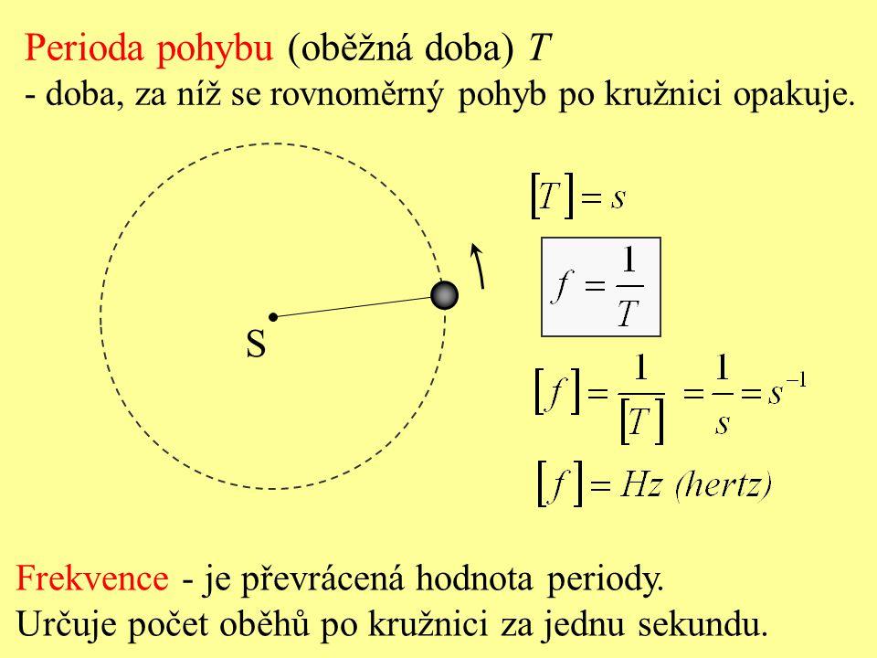 Perioda pohybu (oběžná doba) T