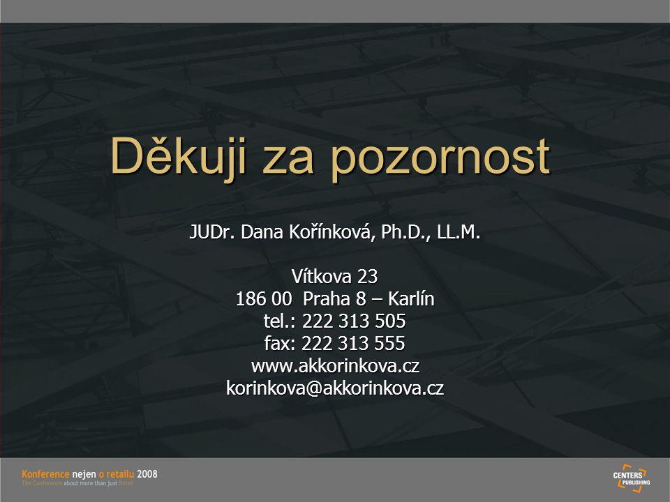 JUDr. Dana Kořínková, Ph.D., LL.M.
