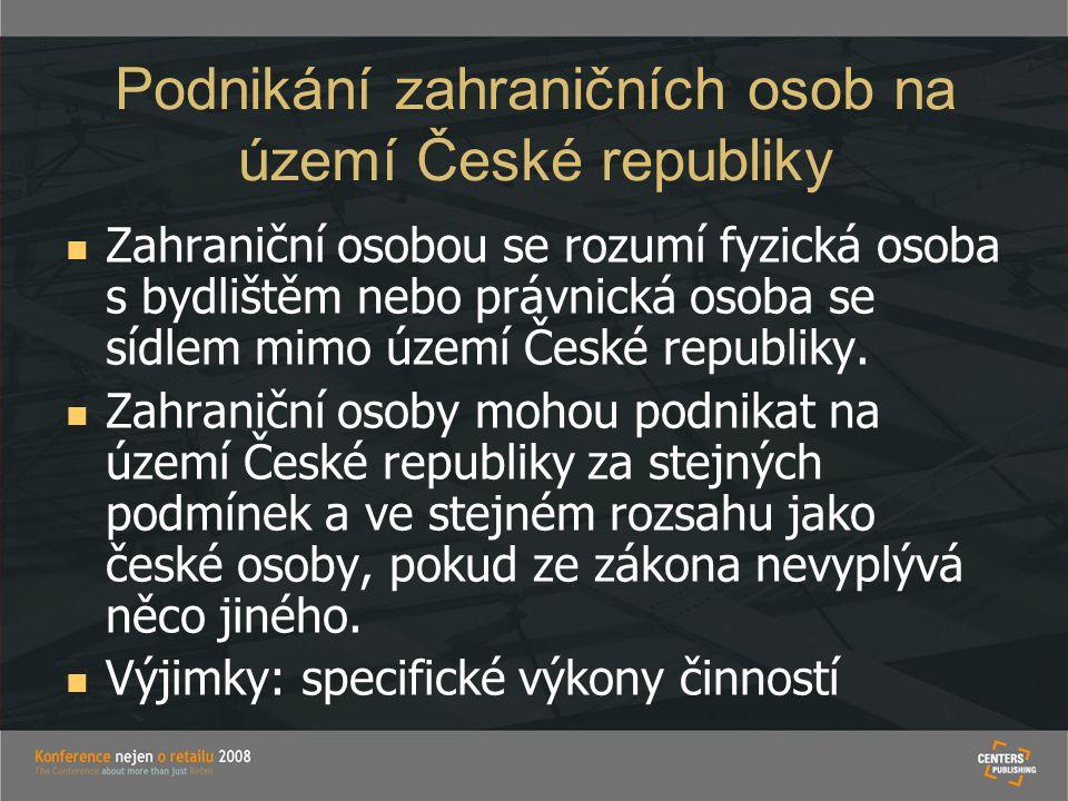 Podnikání zahraničních osob na území České republiky
