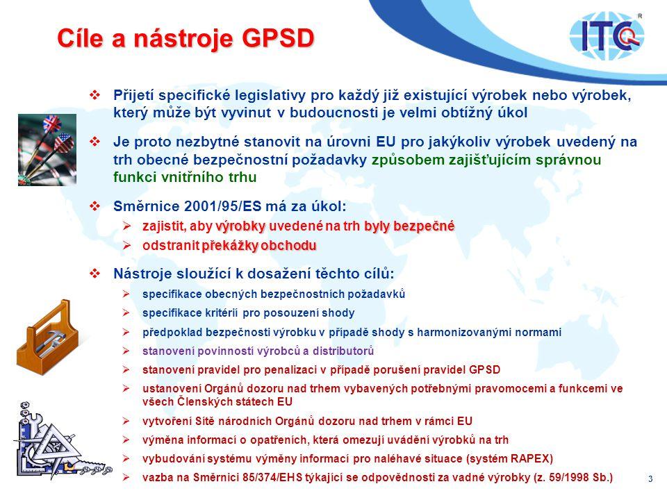 Cíle a nástroje GPSD