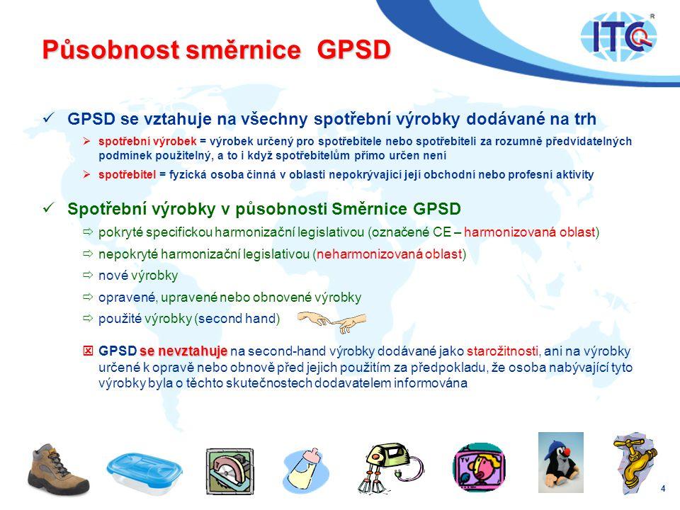 Působnost směrnice GPSD