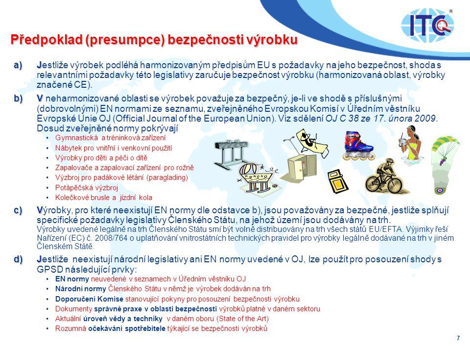 Předpoklad (presumpce) bezpečnosti výrobku