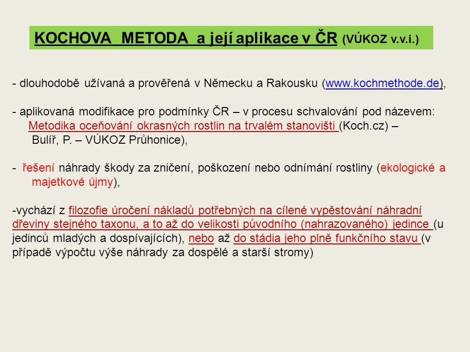 KOCHOVA METODA a její aplikace v ČR (VÚKOZ v.v.i.)