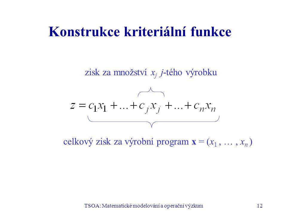 Konstrukce kriteriální funkce