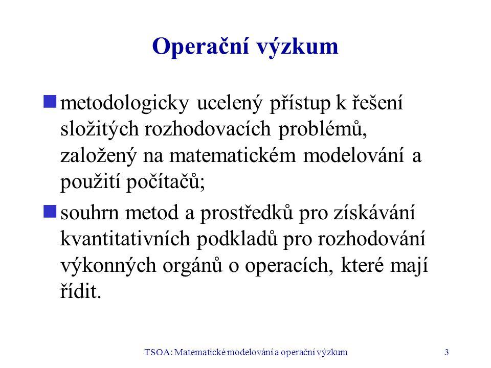 TSOA: Matematické modelování a operační výzkum