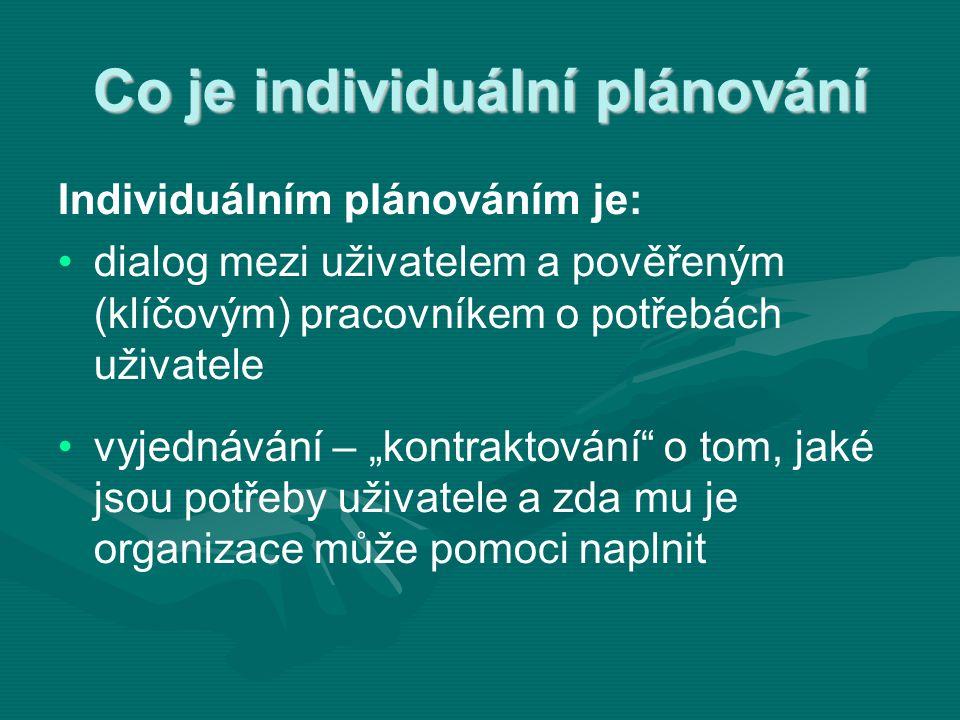 Co je individuální plánování