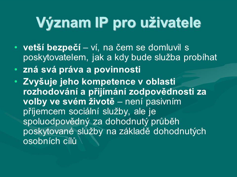 Význam IP pro uživatele