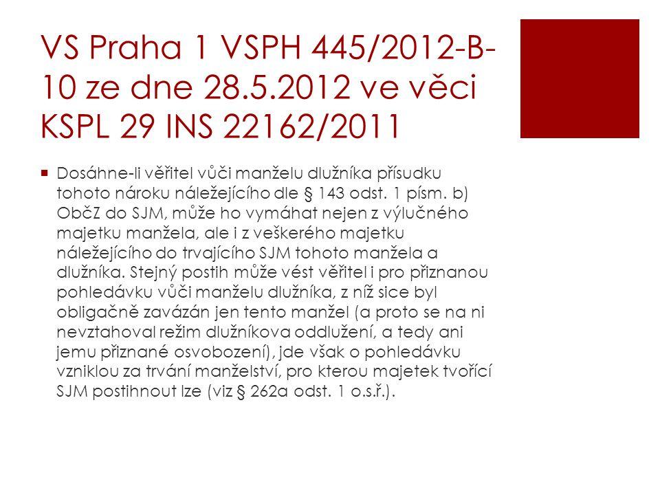 VS Praha 1 VSPH 445/2012-B-10 ze dne 28. 5