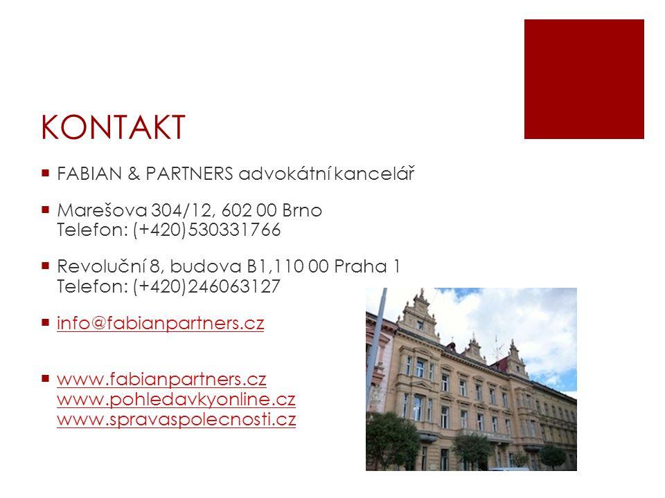 KONTAKT FABIAN & PARTNERS advokátní kancelář