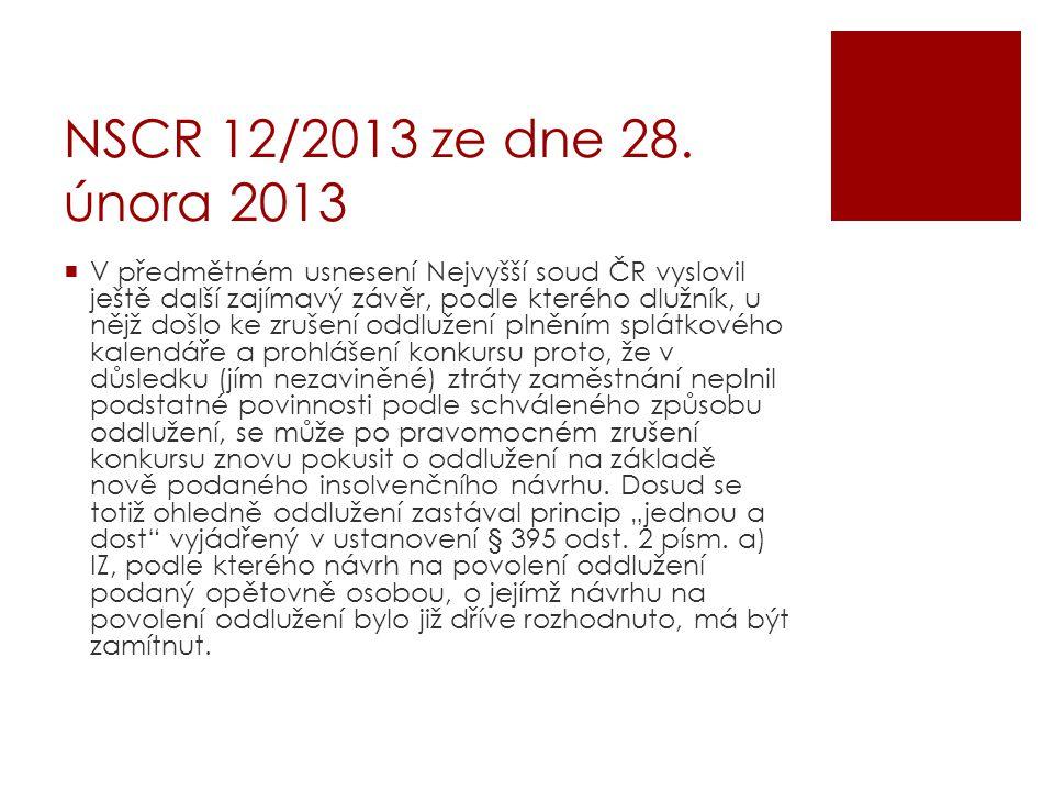 NSCR 12/2013 ze dne 28. února 2013
