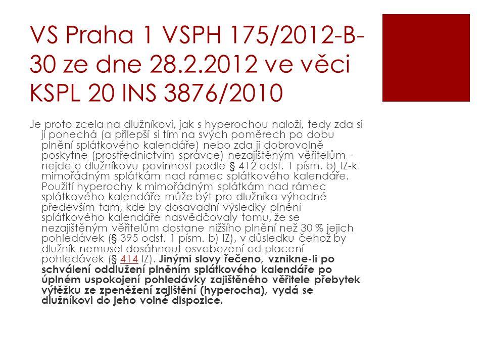 VS Praha 1 VSPH 175/2012-B-30 ze dne 28. 2