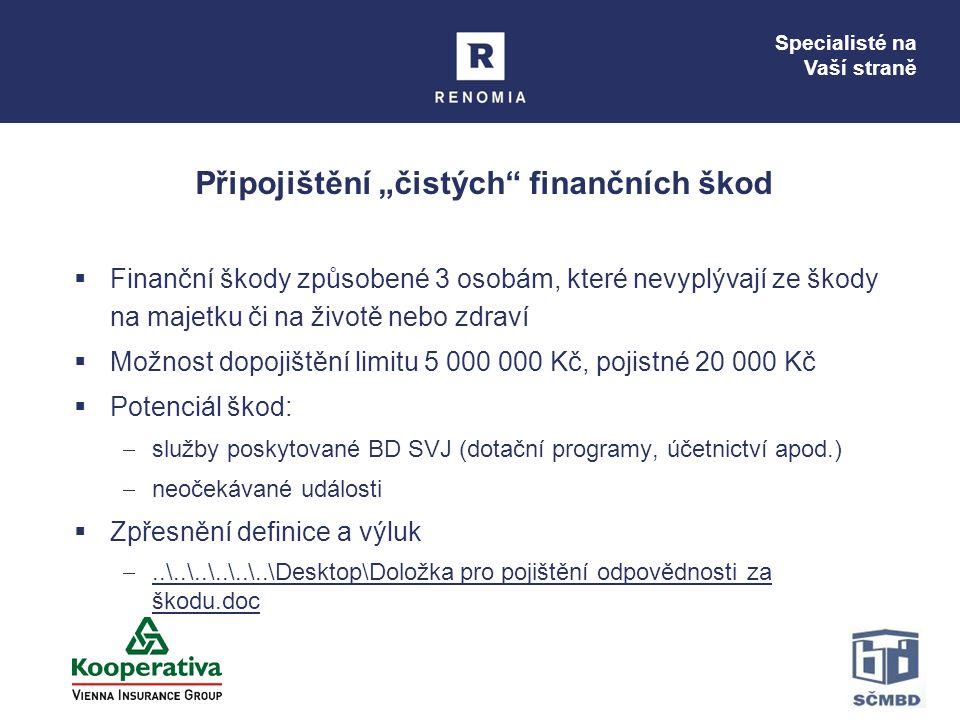 """Připojištění """"čistých finančních škod"""