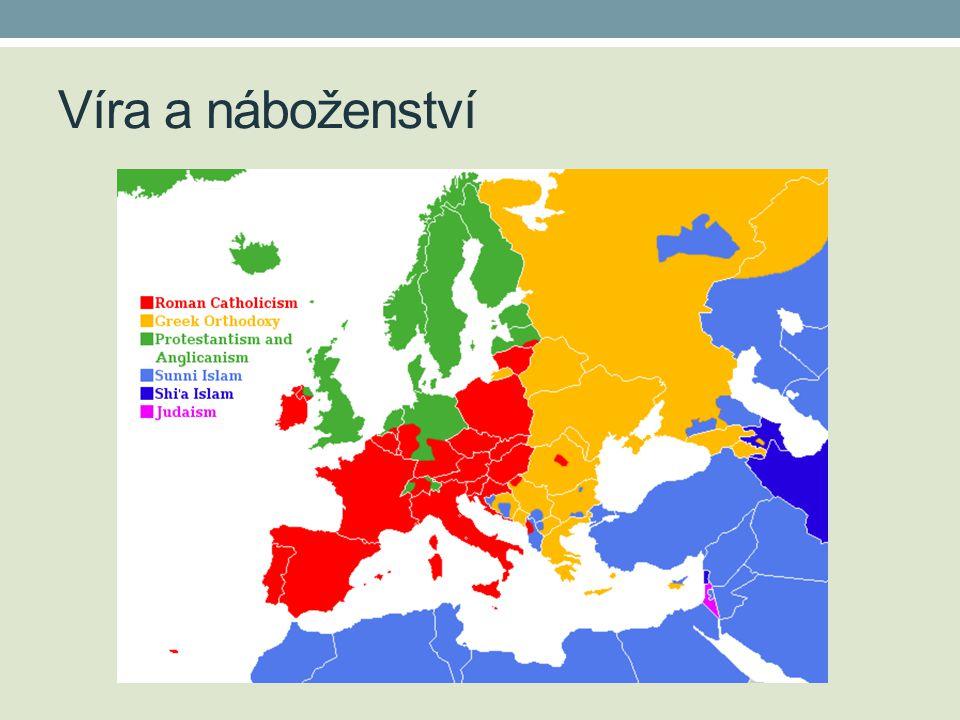 Víra a náboženství http://upload.wikimedia.org/wikipedia/commons/1/12/EuropeMajorReligions.png