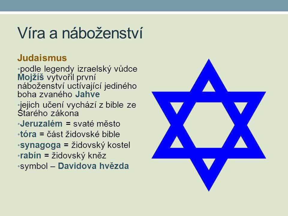 Víra a náboženství Judaismus