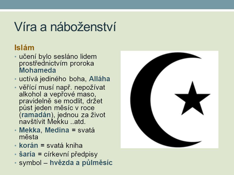Víra a náboženství Islám