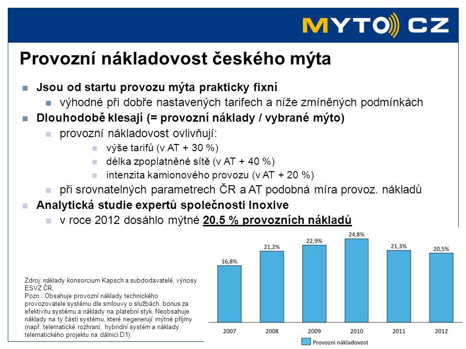 Provozní nákladovost českého mýta