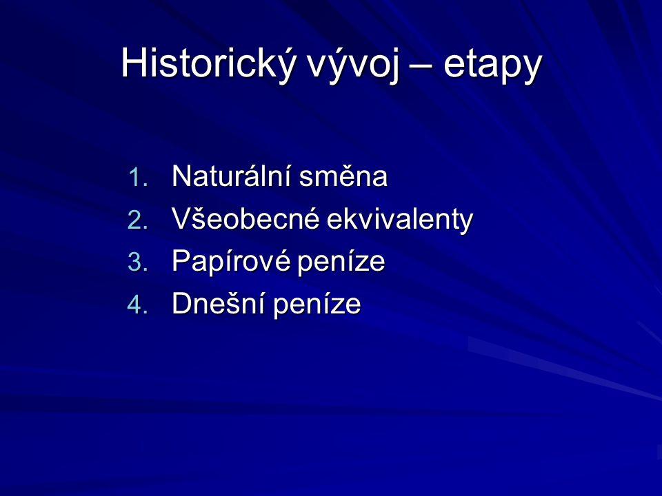 Historický vývoj – etapy