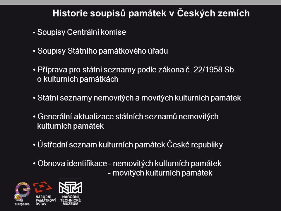 Historie soupisů památek v Českých zemích