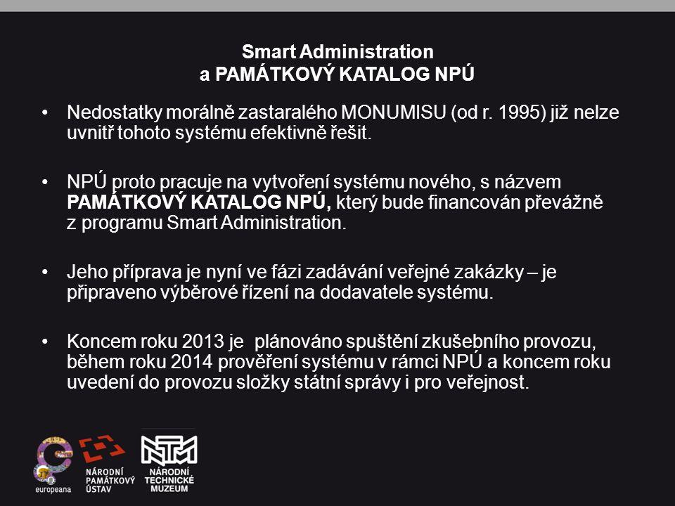 Smart Administration a PAMÁTKOVÝ KATALOG NPÚ