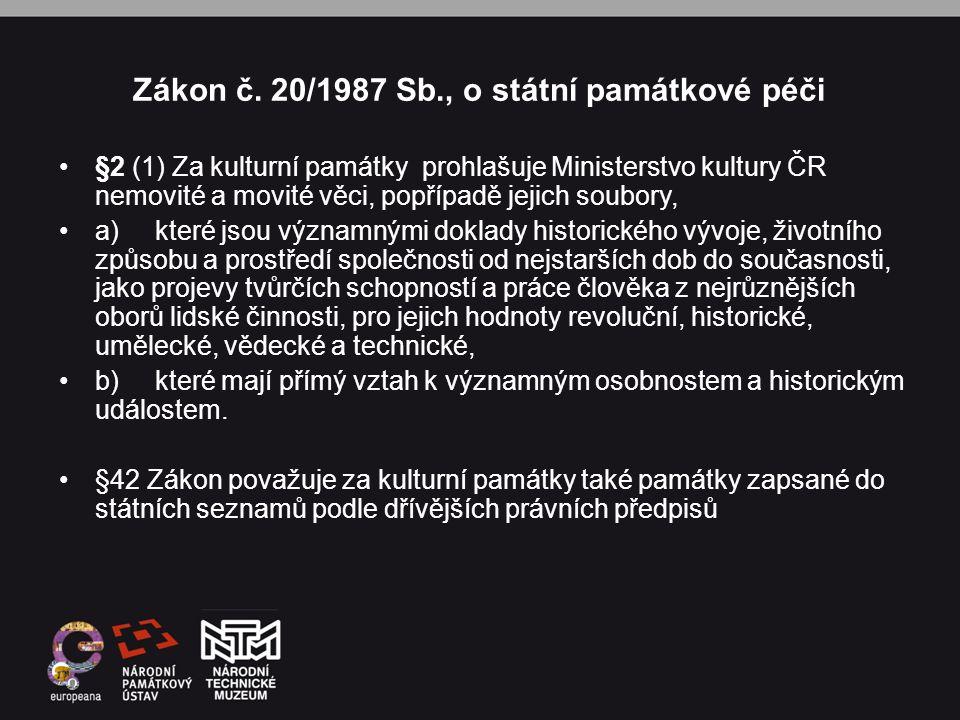 Zákon č. 20/1987 Sb., o státní památkové péči