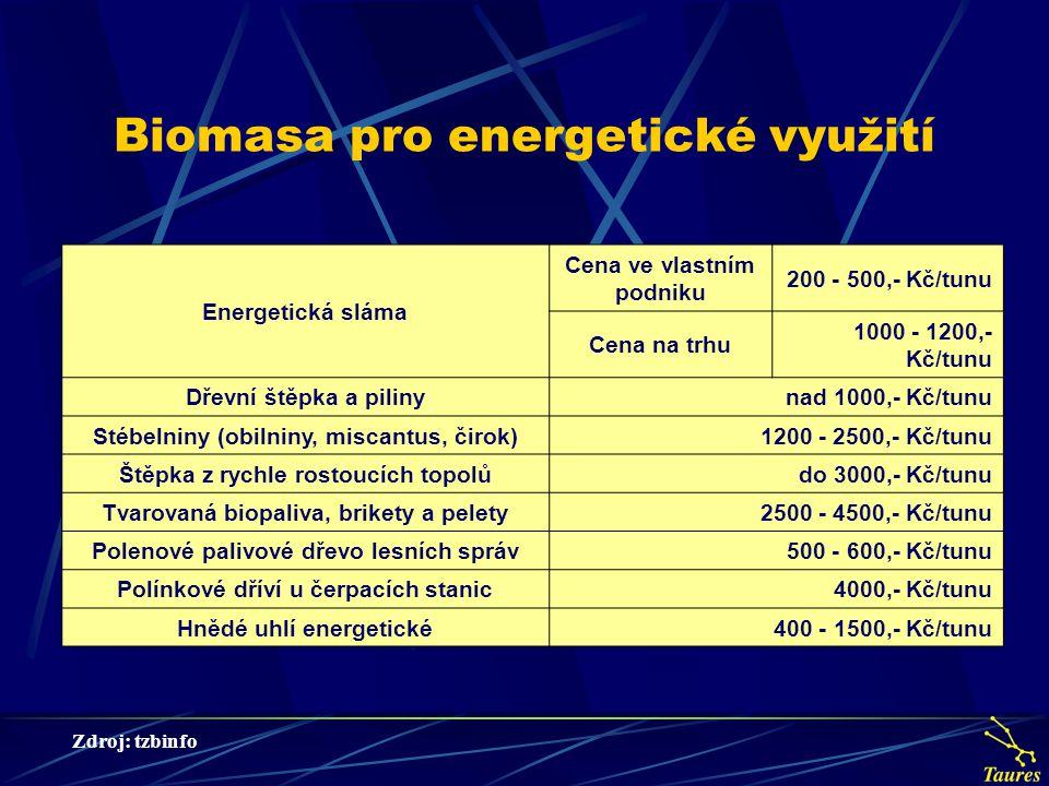 Biomasa pro energetické využití