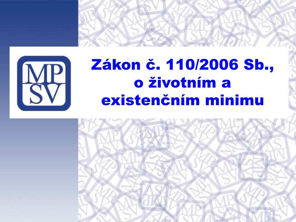 Zákon č. 110/2006 Sb., o životním a existenčním minimu