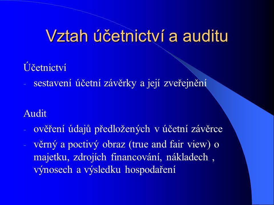 Vztah účetnictví a auditu