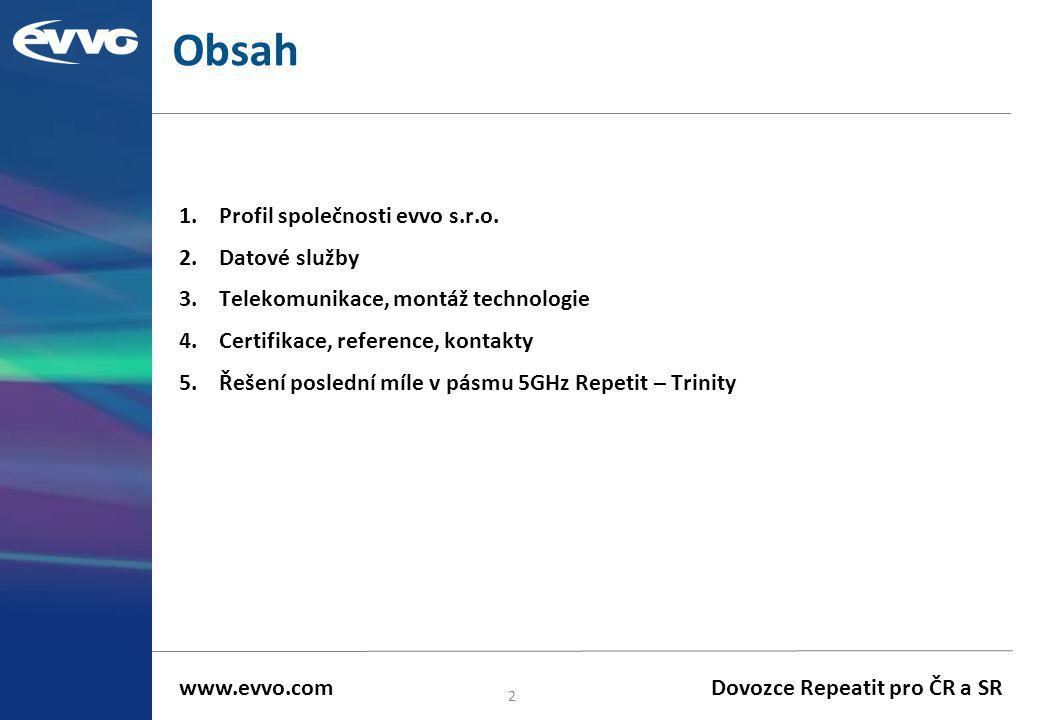 Obsah Profil společnosti evvo s.r.o. Datové služby