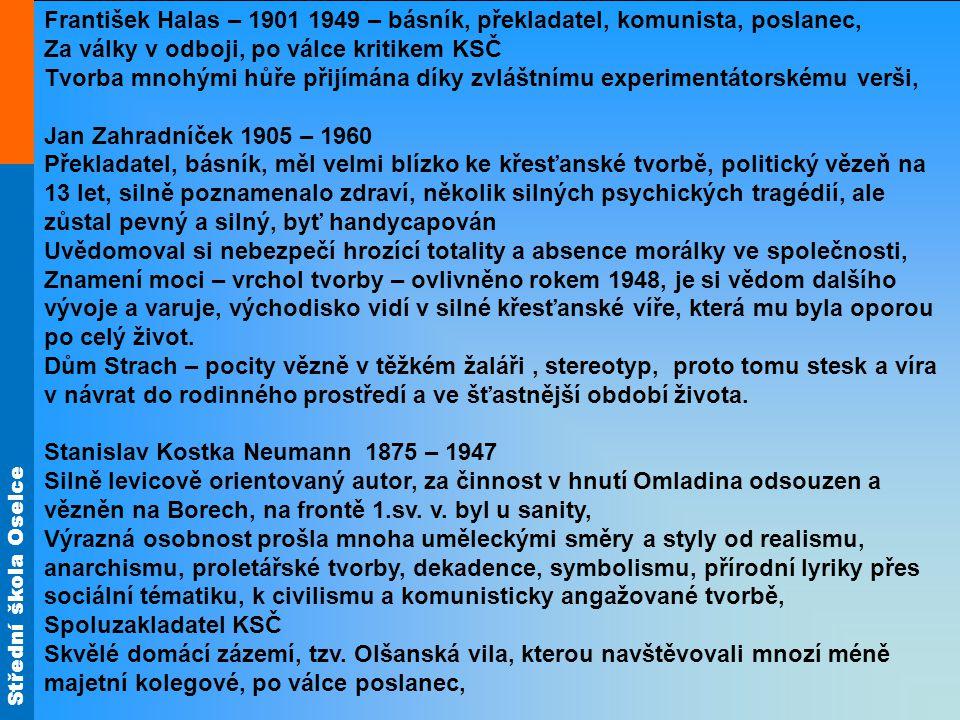 František Halas – 1901 1949 – básník, překladatel, komunista, poslanec,