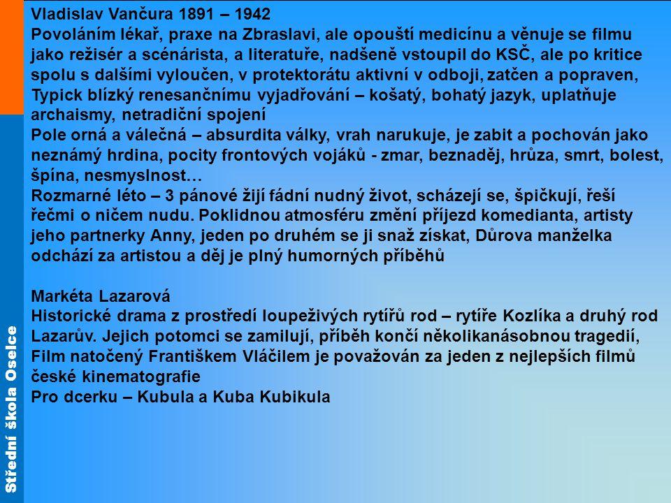 Vladislav Vančura 1891 – 1942