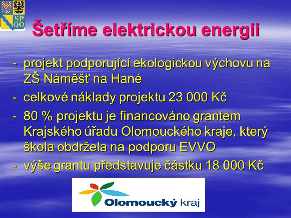 Šetříme elektrickou energii