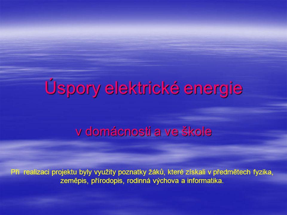 Úspory elektrické energie