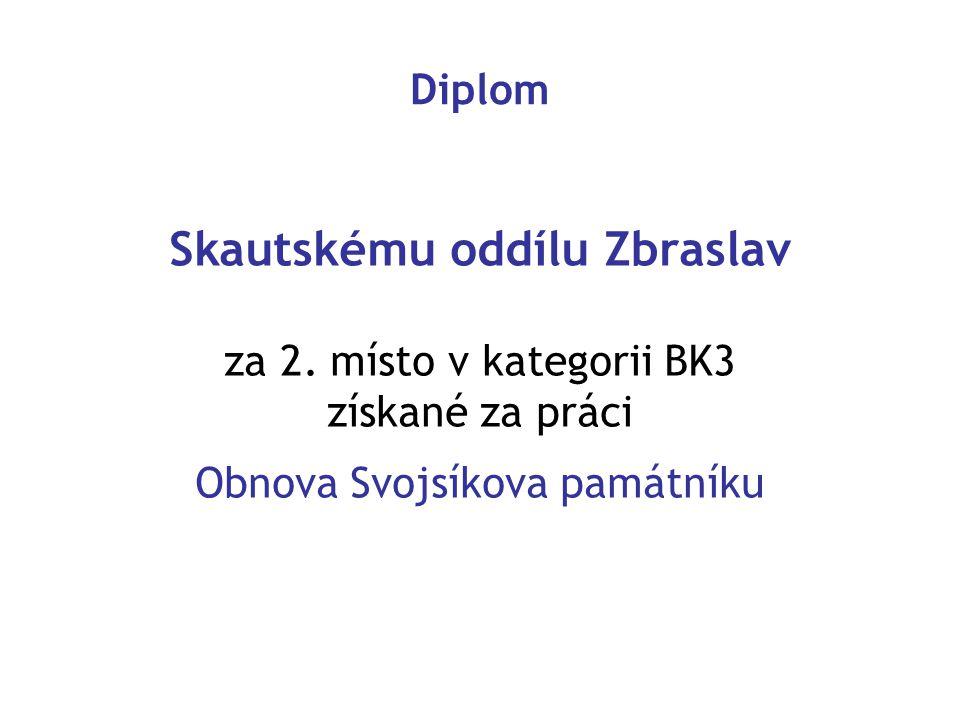 Skautskému oddílu Zbraslav