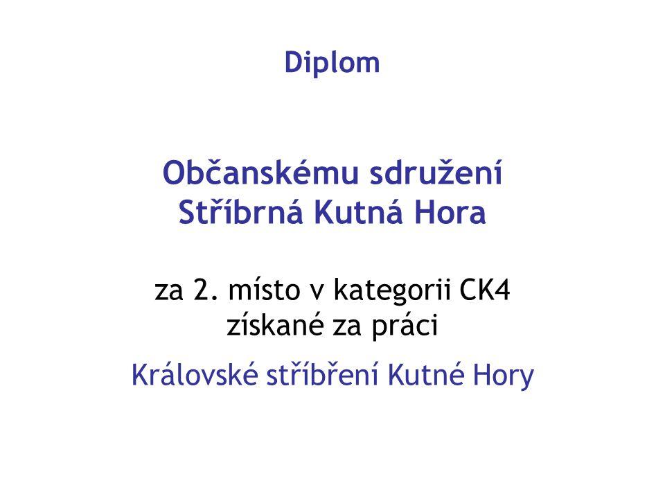 Občanskému sdružení Stříbrná Kutná Hora