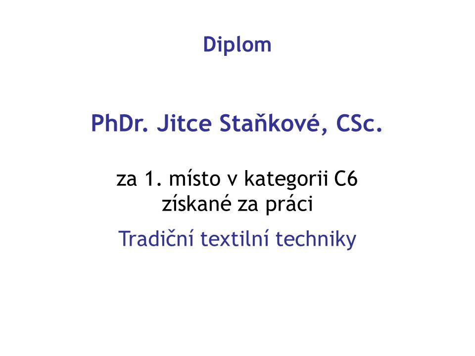 PhDr. Jitce Staňkové, CSc.