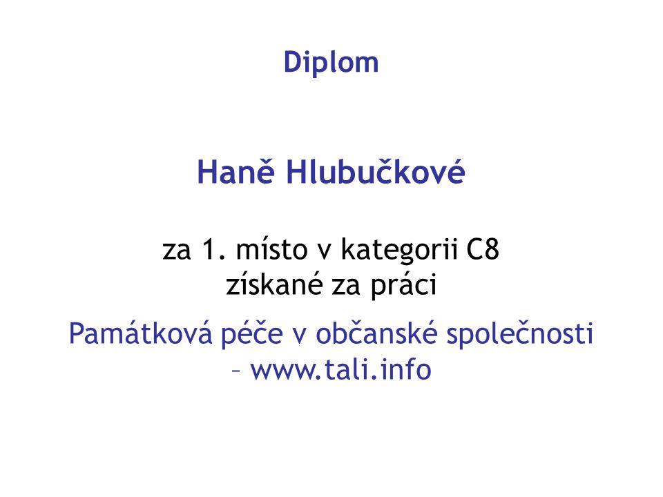 Památková péče v občanské společnosti – www.tali.info