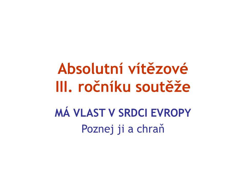 Absolutní vítězové III. ročníku soutěže